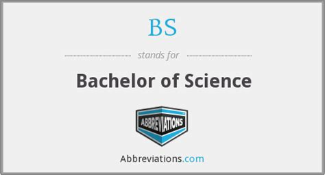 what is the abbreviation for bachelor of science