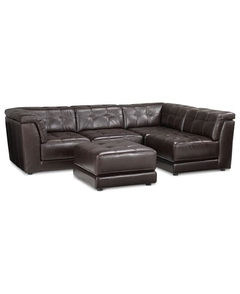 armless leather sectional sofa stacey leather sectional sofa 5 modular pit 2