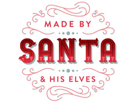 dribbble santa stamps_made by santa & his elves by