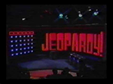 theme music jeopardy game show jeopardy 1984 1991 theme no leads youtube
