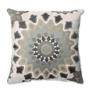 shop pillow marais 16 5 in w x 16 5 in l blue