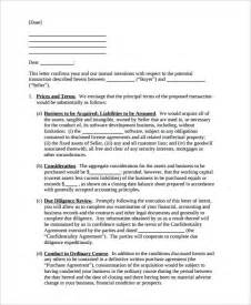 Letter Of Intent Business Model 11 Letter Of Intent Templates Free Sle Exle