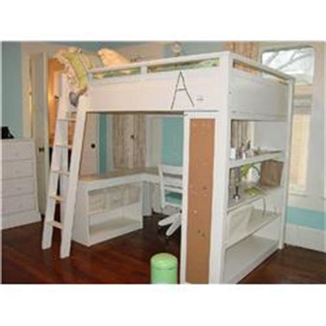 pottery barn sleep study loft bed white wooden loft bed