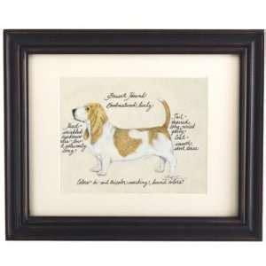 Ballard Designs Inc sad sams honey basset hound dog in happy birthday hat c