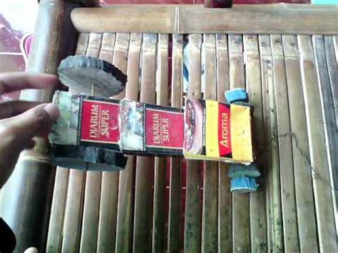 membuat mobil dari kardus rokok cara buat mobil dari kardus kertas rokok bahan bekas