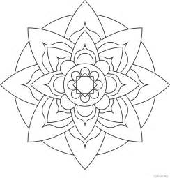how to color mandalas easy mandala coloring pages coloring home