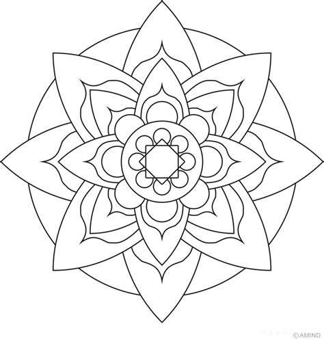 Easy Mandala Coloring Pages Coloring Home Mandalas To Color Easy