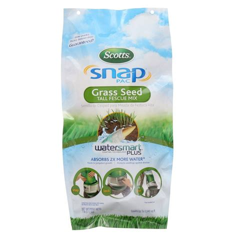 scotts snap pac 7 lb fescue grass seed 13005 the