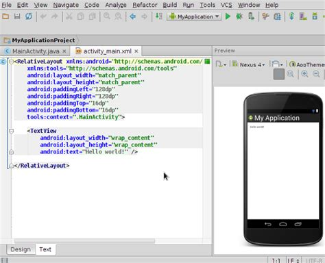 android studio edit layout xml android sdk working with android studio