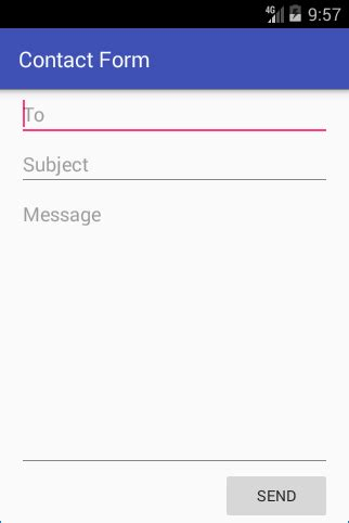 android pattern email address email contact form in app using action send intent tek eye