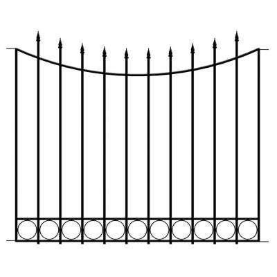 border fence steel black garden fencing