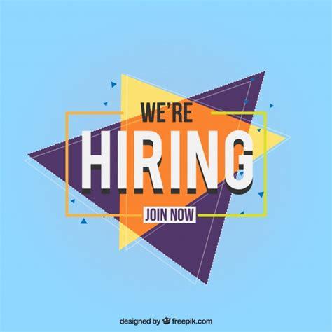 job vacancy composition  abstract design  vector
