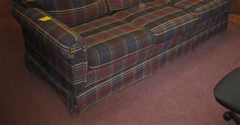 broyhill plaid couch uhuru furniture collectibles sold broyhill plaid