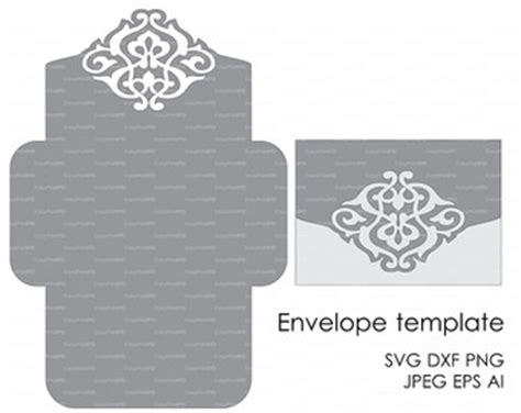 silhouette cameo card templates floral wreath lace wedding invitation pattern card 5x7