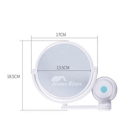 Suction Cup Mirror Bathroom by Modern Suction Cup Small Makeup Mirror White Bathroom Plastic