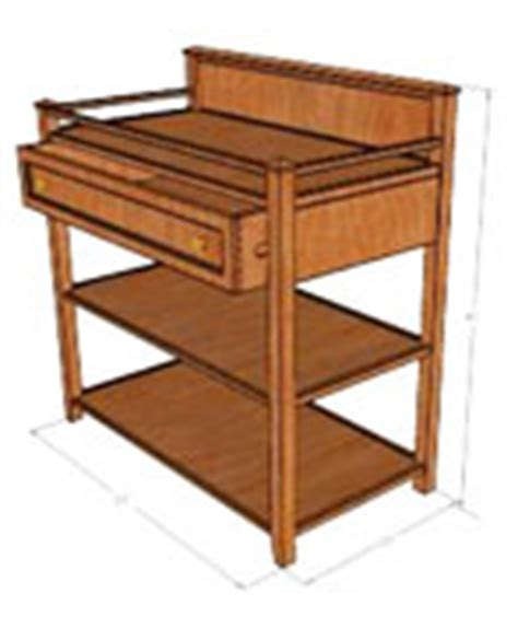 wood pe hung woodworking plans for a baby changing table