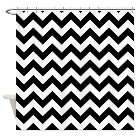 pattern black and white curtains black and white chevron pattern shower curtain by poptopia1