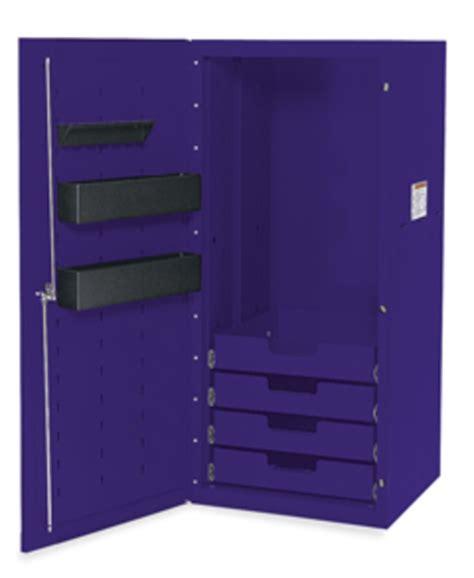 locker 4 drawers 3 shelves purple