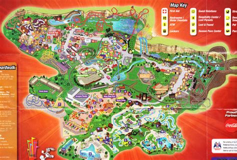 six flags texas park map six flags texas 2009 park map
