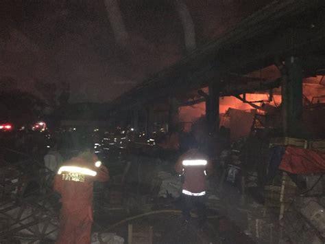 Kerang Di Pasar Kramat Jati bangunan yang terbakar di pasar induk kramat jati
