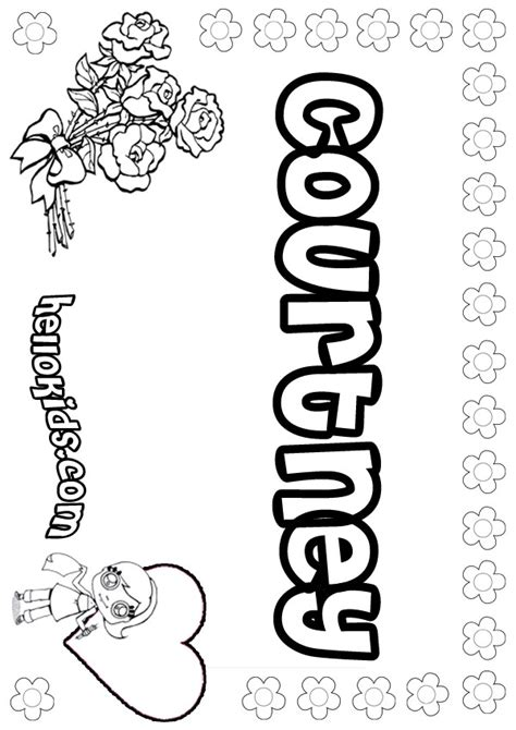 Courtney Coloring Pages Hellokids Com Name Colouring Pages
