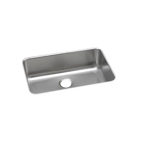 elkay undermount stainless steel kitchen sink elkay lustertone undermount stainless steel 27 in single