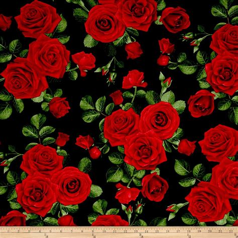 pattern for fabric roses timeless treasures glamour spaced roses black discount
