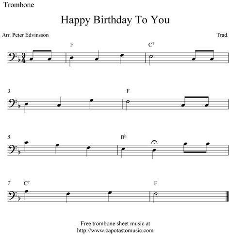 printable happy birthday sheet music alto sax happy birthday to you free easy trombone sheet music notes
