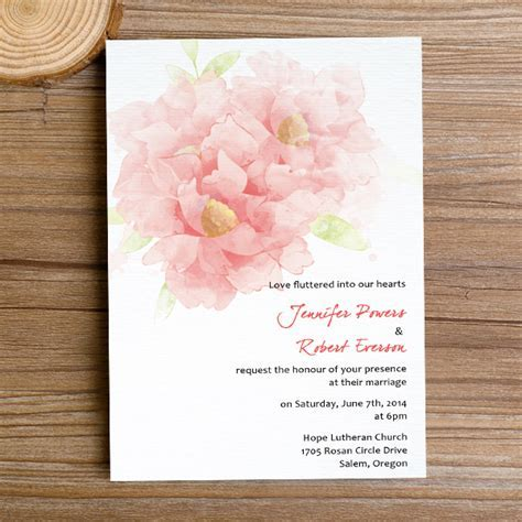 cheap coral watercolor flower spring wedding invitations EWI375 as low as $0.94