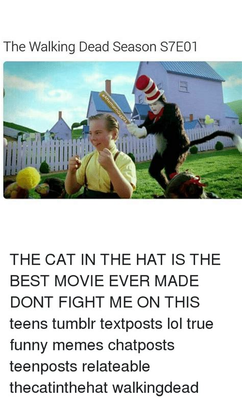 the cat in the hat dont jump on the couch the walking dead season s7e01 the cat in the hat is the
