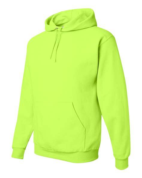 green hoodie jerzees safety green or orange hi visibility hooded hoodie