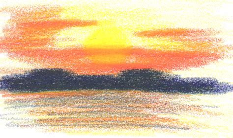 sunset colored pencil sunset in colored pencil by tgwabba on deviantart