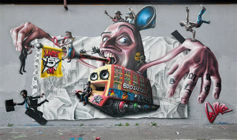 Colorful Wall Murals mr blob in milan italy street art hub