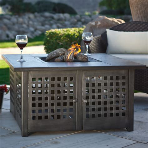 Uniflame Grey Slate Top Lp Gas Fire Pit With Free Cover Lp Gas Firepits