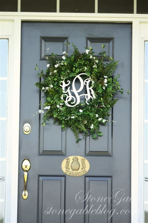 Wreaths For The Front Door Front Door Wreath Summer 2013 Stonegable