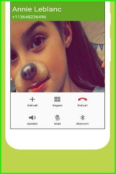 call from annie leblanc for android apk download