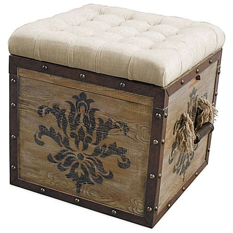 damask storage ottoman buy pulaski harrison damask crate storage ottoman in
