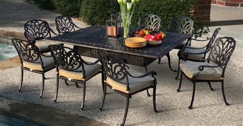 cast aluminum patio furniture cast aluminum patio set patio design ideas