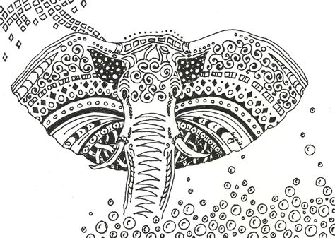 elephant mandala coloring books byrds words december 2010