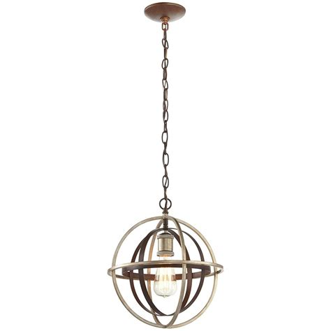 Home Decorators Collection 1 Light Bronze and Champagne Pewter Mini Pendant 27030 The Home Depot