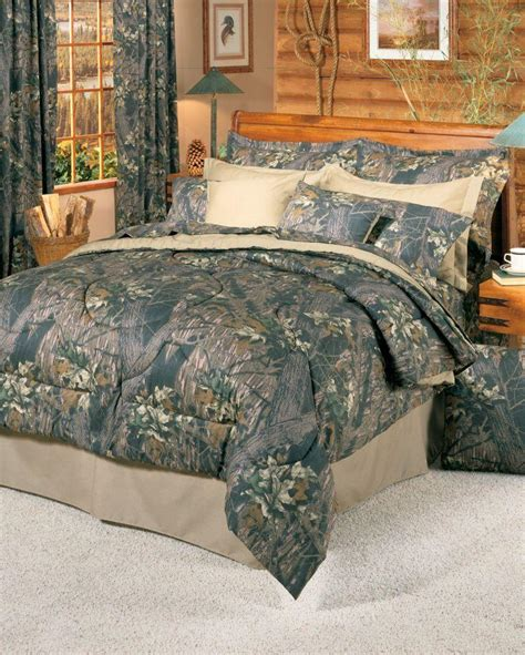 mossy oak new break up 8 pc camo comforter set queen