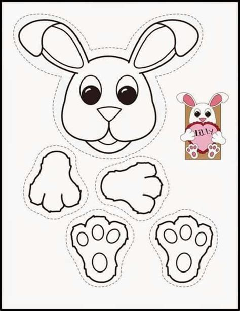easter bunny paper bag puppet template 660 best images about paperbag craft ideas on