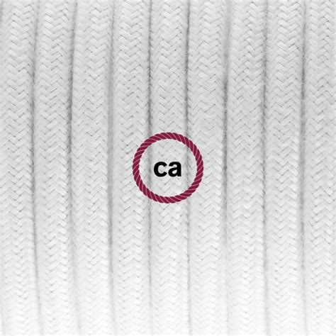 electric cable covered by cotton solid color fabric