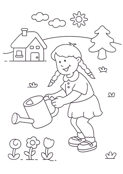 Maison Jardin Enfant 6568 jardinage dessin