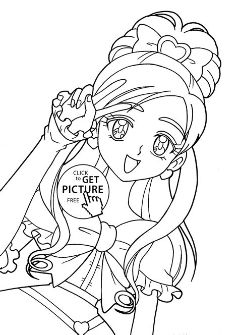 Girl Anime Character Coloring Pages Coloring Pages Of Anime Characters