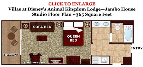 Two Bedroom Floor Plans by Review Disney S Animal Kingdom Villas Jambo House
