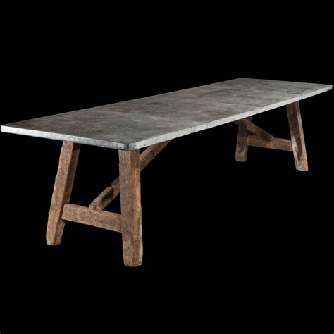 zinc top dining room table zinc top preparation table dining rooms furniture and tops