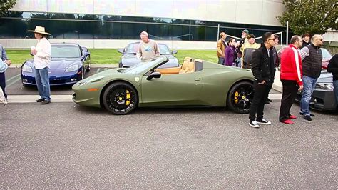 matte green ferrari new 2013 ferrari 458 spider at c ci in matte army green