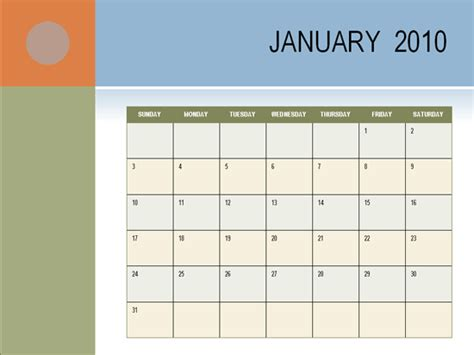 office 2010 calendar template powerpoint calendar template calendar 2010 ms office