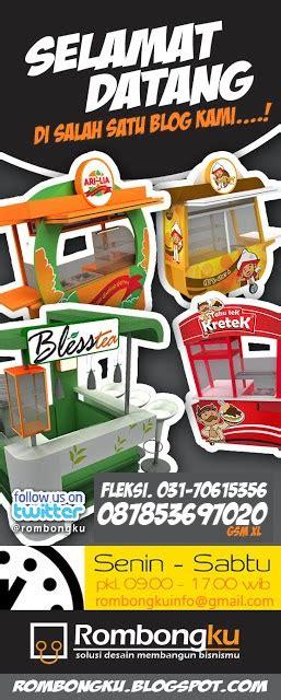 Franchise Teh Gopek desain gerobak jualan untuk makanan